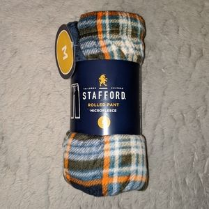 NWT Stafford Microfleece Plaid Rolled Pajama Pants